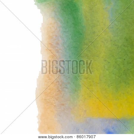 Abstract watercolor art hand paint isolated on white background