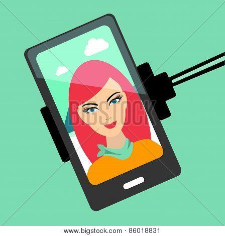 Girl Selfie Photo.