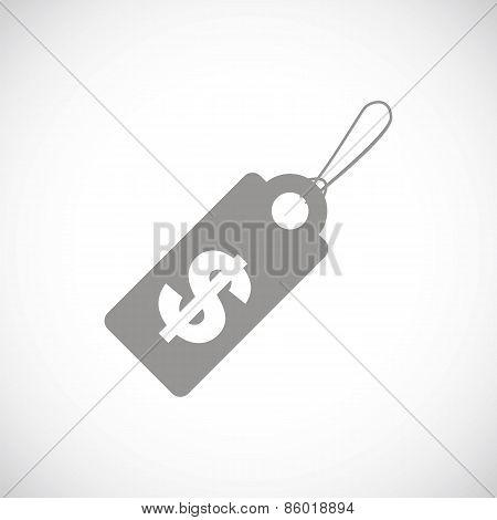 Dollar tag black icon
