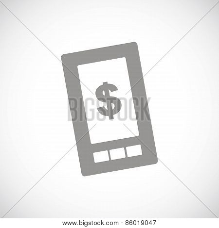Dollar phone black icon