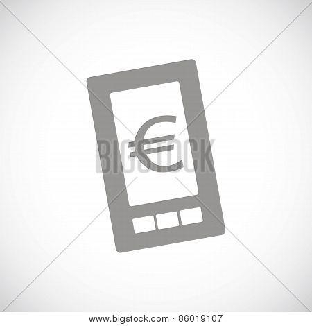 Euro phone black icon