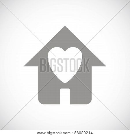 Love house black icon