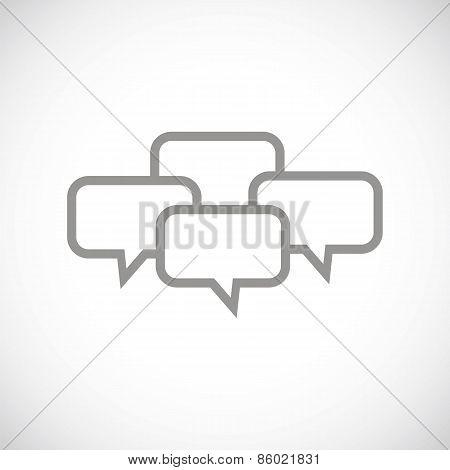 Dialog black icon