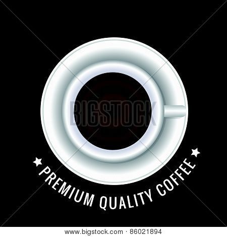 Top view coffee cup and circles background