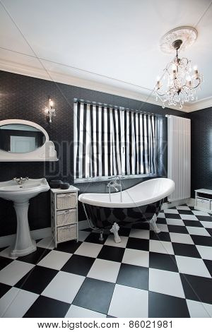 Black And White Expensive Bathroom
