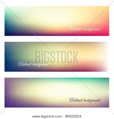 Abstract natural background banners - eps10