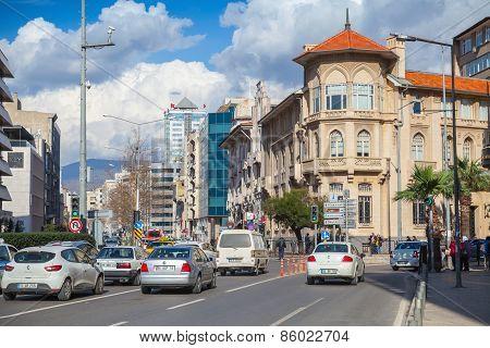 Turkey. Central Part Of Izmir City, Street View