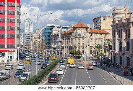 Turkey. Central Part Of Izmir, Street View