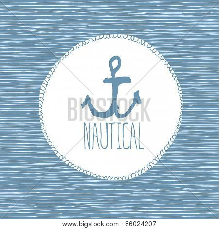 Nautical card hand-drawn