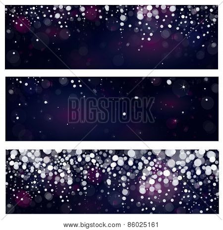 Vector snow banners.