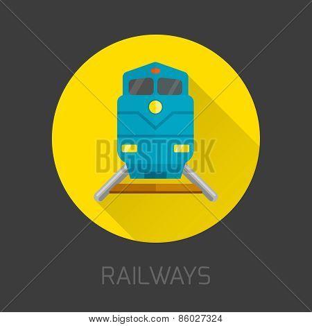 Railway Flat Icon
