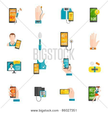 Digital Health Flat Icons