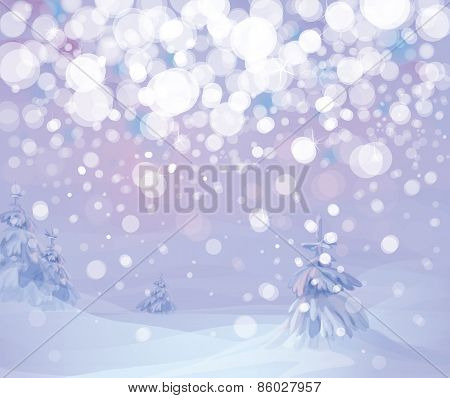 Vector winter snowfall background.