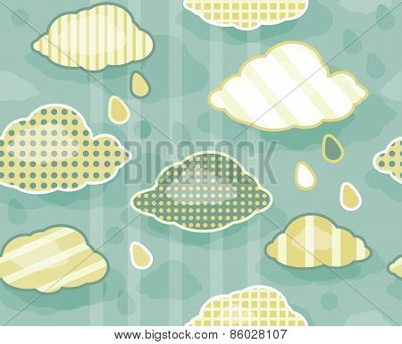 Vector seamless pattern of sky.