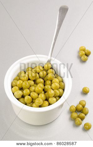 Cooked Garden Pea In A Small Bowl