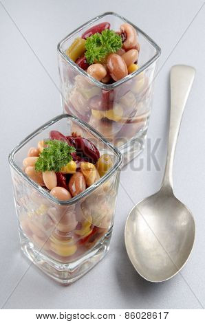 Mixed Bean Salad And Sweet Corn