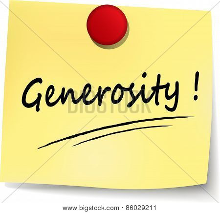 Generosity Yellow Note