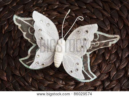 Handmade White Butterfly