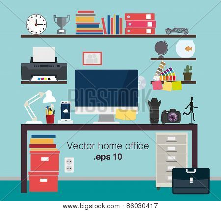 Home office vector items