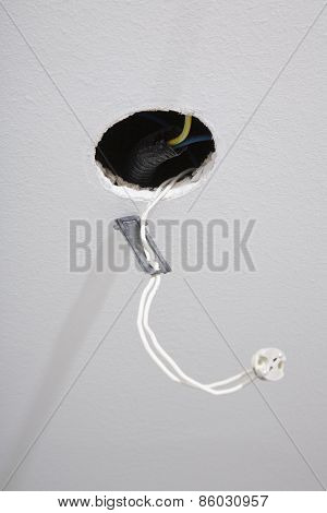 Hole With Cable For Spotlight