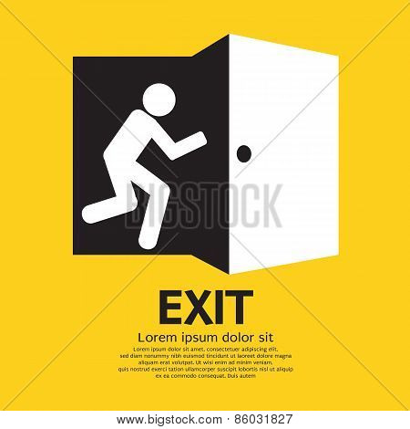 Exit Graphic Sign.