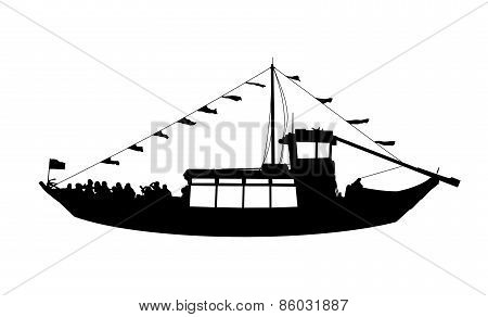 Touristic Ship Profile View