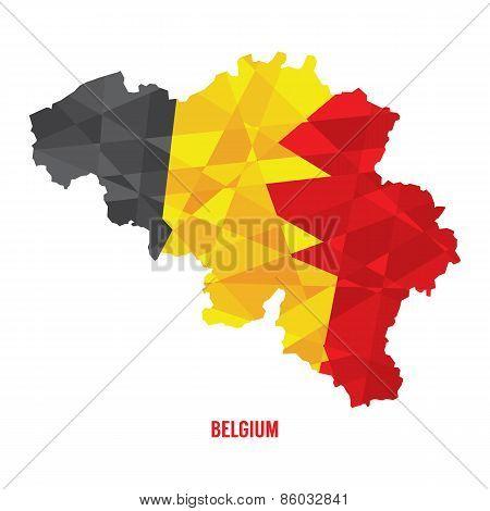 Map Of Belgium.