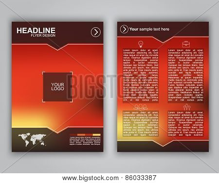 Design Business Flyer With Blurred Background