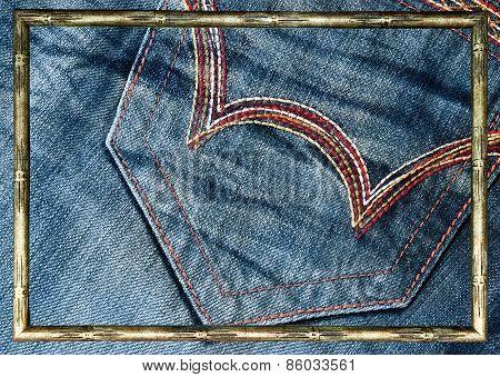 Jeans Pocket And Frame