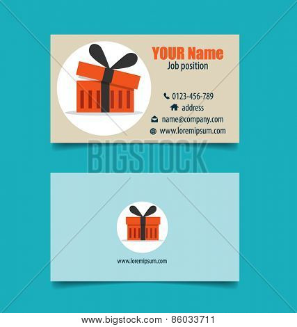 Modern business card template, vector illustration.