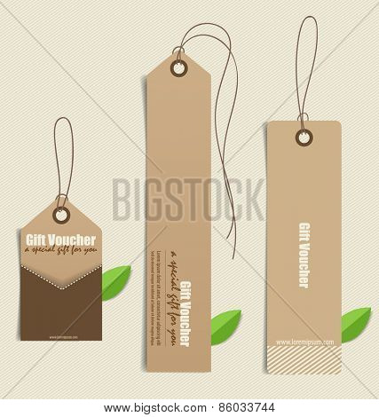 Nature banner, Eco organic labels and cards. Vector illustration.
