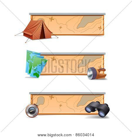 Hiking Banners Horizontal