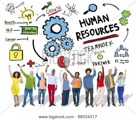Human Resources Employment Teamwork People Celebration Success Concept