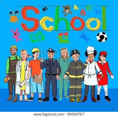 Children Kids School Concept