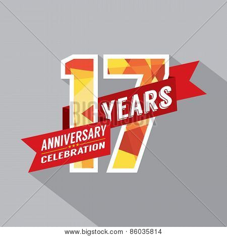 17Th Years Anniversary Celebration Design.
