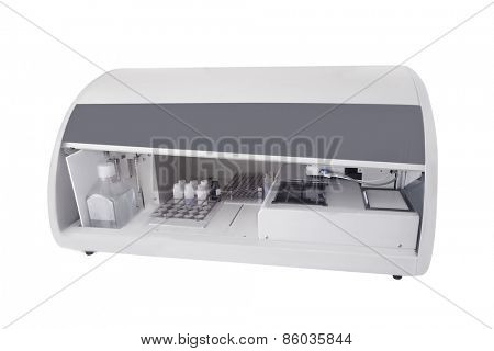 Biochemistry laboratory equipment closeup
