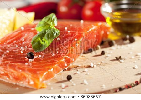 Salmon Fillet with Spicy and Lemon