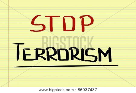 Stop Terrorism Concept