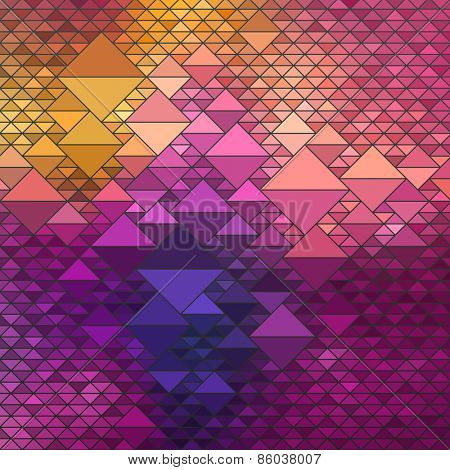 Colorful Geometric Background, vector eps10 illustration