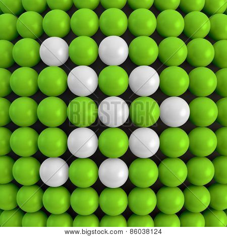 Arrow. Abstract technology background with balls. 3d vector illustration. Can be used as background for your business presentation.