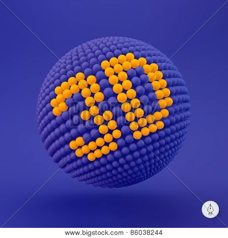 3d icon. Web sign. Design element. Vector illustration.