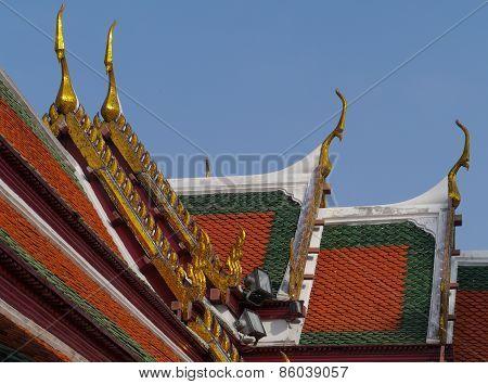 The royal or grand palace in Bangkok in Thailand