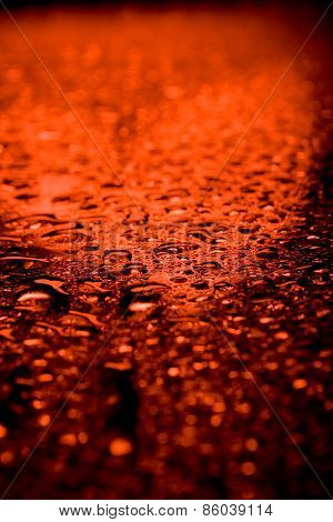 red waterdrops