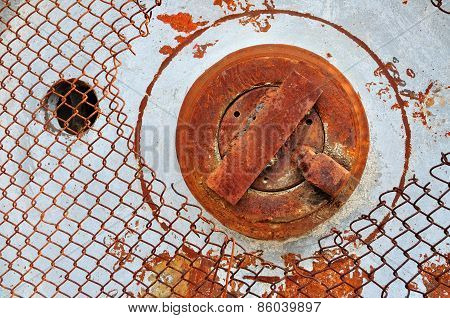 Rusty Iron Grunge Background