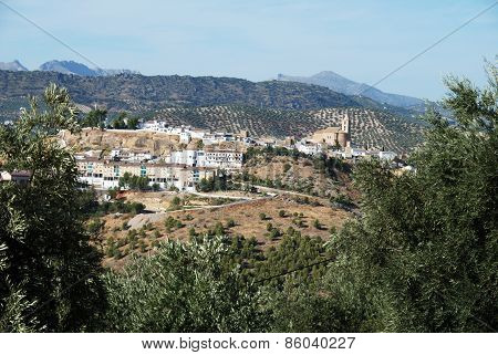 White town, Iznajar, Spain.