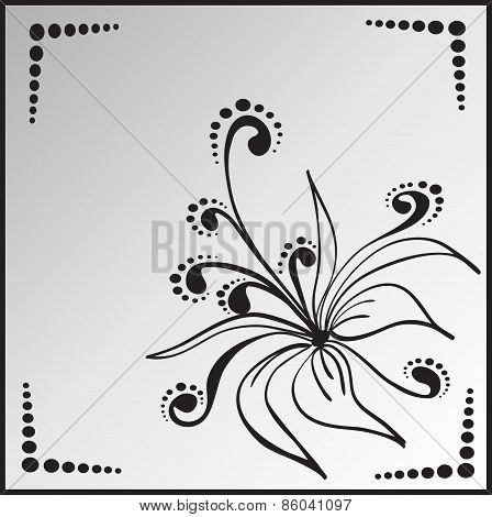 Flower In Square Frame