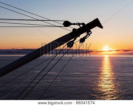 Cargo Boom On Sunrise