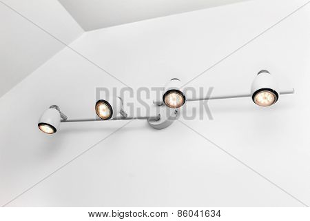 Led Wall Lights In White Bright Interior