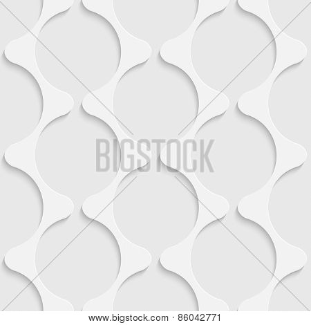 Seamless Damask Pattern. Vector Soft Background. Regular White Texture