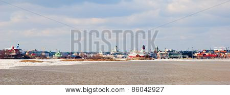Helsinki. Finland. Cityscape from the Gulf of Finland